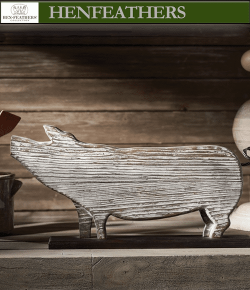 Farmhouse Piggy Sculpture