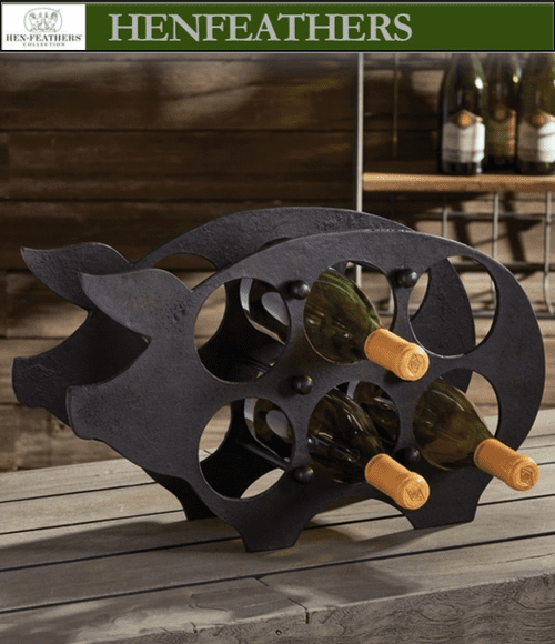 Farmhouse Piggy Wine Rack