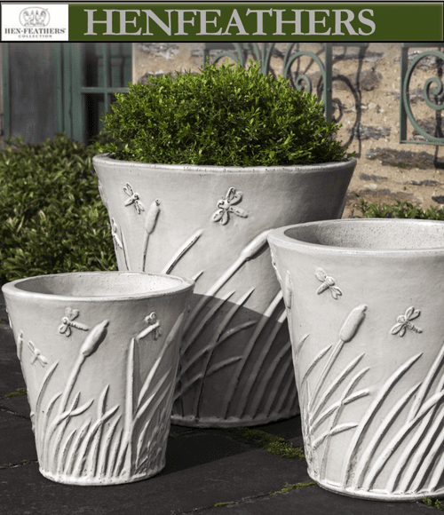 Flared Dragonfly Planters Henfeathers