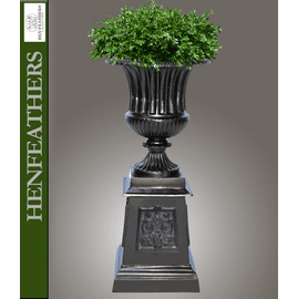 Florentine Fluted Urn on Victorian Pedestal {USA}n