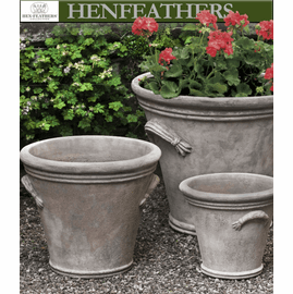 Fluted Handle Planter - Antico Terra Cotta - Set of 3