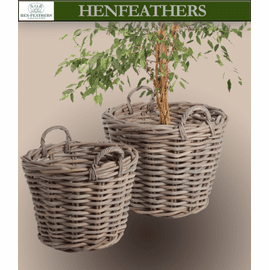 French Country Tree Baskets - Set of 2