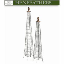 French Wire Garden Finials Set of 2 (n)
