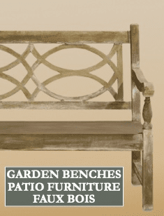 Garden Benches, Patio Furniture & Faux Bois