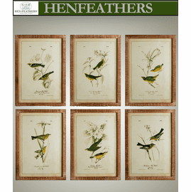 Green Birds Study, Set of 6