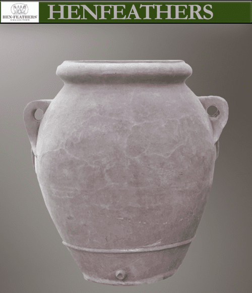 Grey Olive Oil Urn with Handles