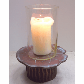 """Lily Pad Candle Holder - 10.5"""""""