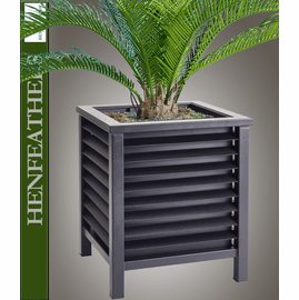 Louvered Box Planter