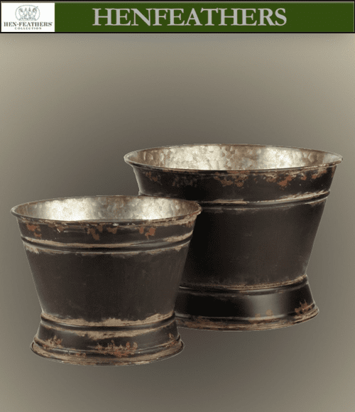 Meudon Belle Flower Planter Buckets - Set of 2