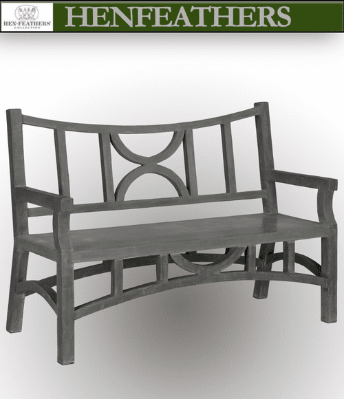 Moongate Faux Bois Bench