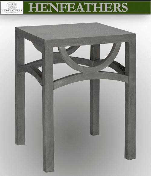 Moongate Faux Bois Side Table