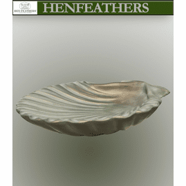 Natural Scallop Shell Birdbath / Vessel