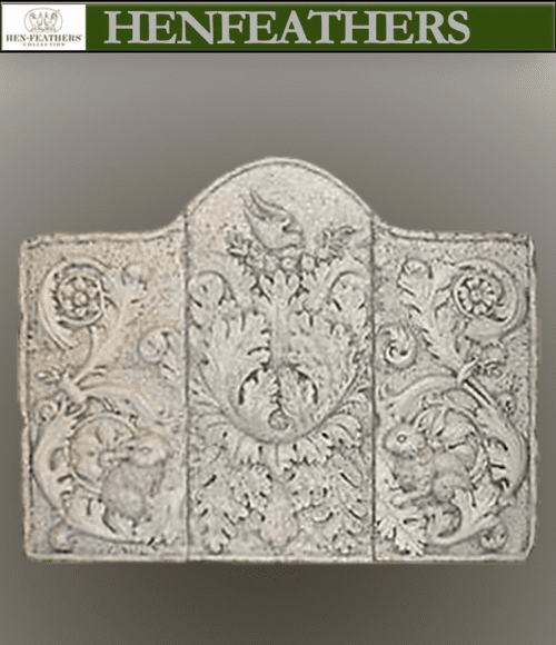 Nature and Rabbit Scroll Wall Panels, bas relief, set of 3 {USA}
