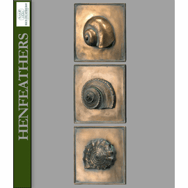 Nautical Shell Study Plaques Set of 3