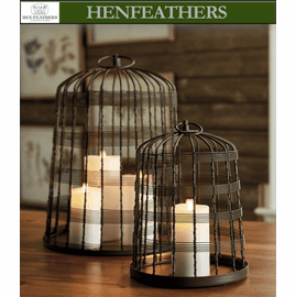 Naxos Island Candle Cages - Set of 2
