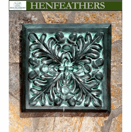 Outdoor Wall Fountains - Bronze Oak Leaf
