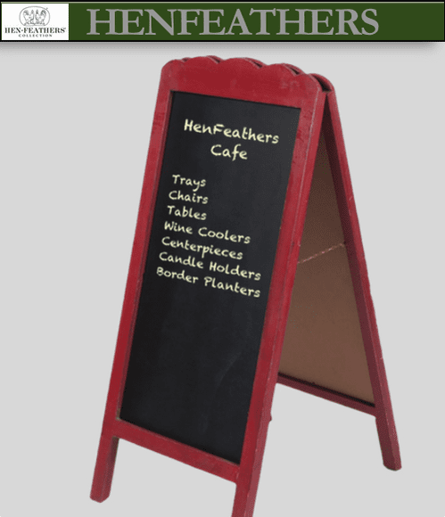 Parisian Cafe Chalkboard Stand (n)