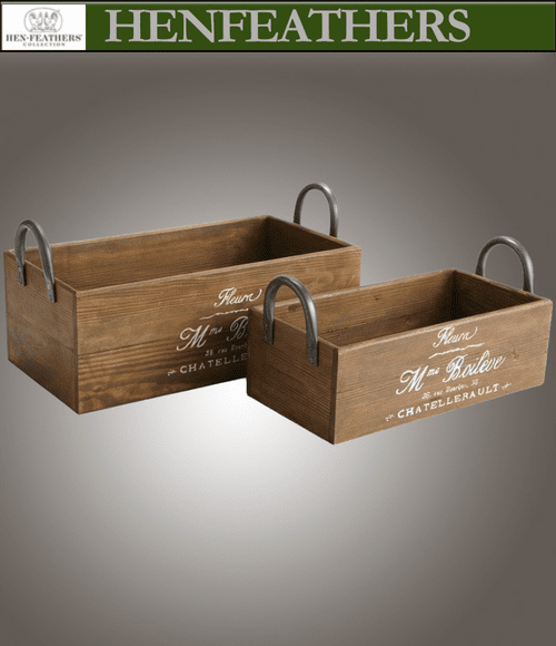 Parisian Cafe Planter Boxes/Totes Set of 2 (n)