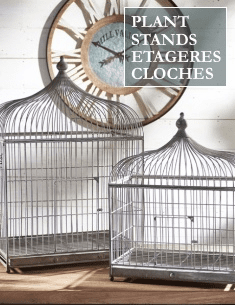Plant Stands, Etageres & Cloches