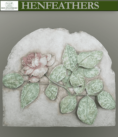Rose Study Hand Painted Fresco Style Bas Relief