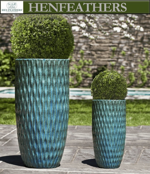 Round Palisades Planter in Weathered Copper - Set of 2
