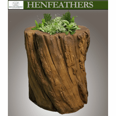 Saranac Faux Bois Log Planter/Table {USA}n