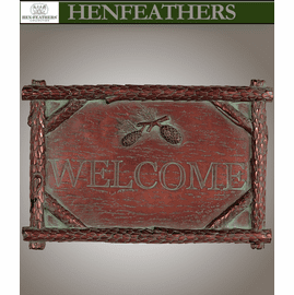 Saranac Welcome Plaque - Coldcast Copper