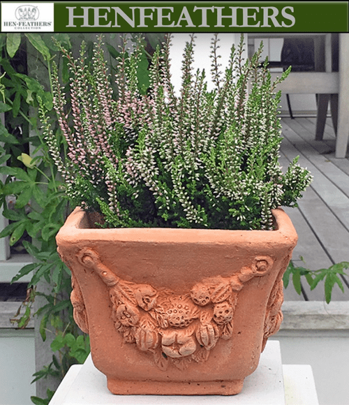 Small Square Garland Pot