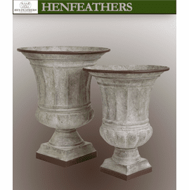 Venetian Urns Galvanized - Set of 2