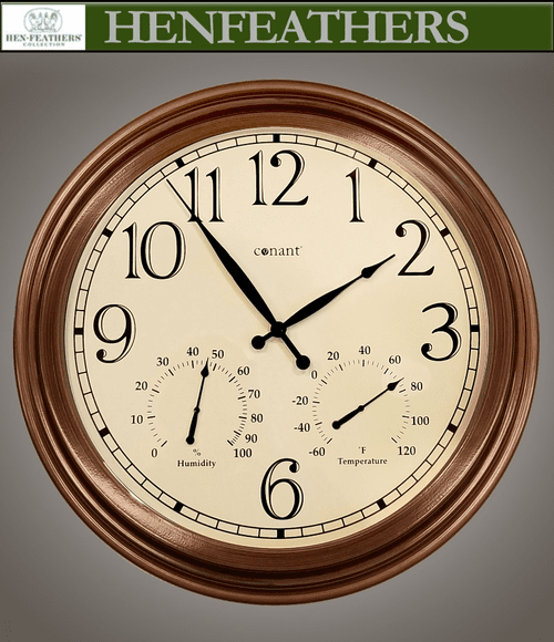 """Wall Clock 18"""" with Weather Station"""