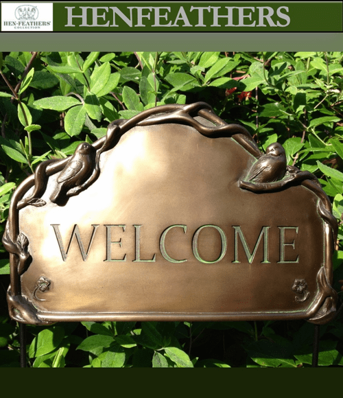 Birds and Vines Welcome Sign