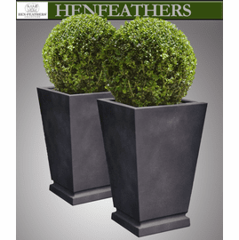 Westmere Planter PAIR in Lead - Photo Sample