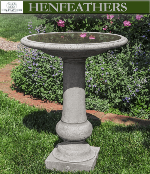 Williamsburg Boxwood Garden Birdbath