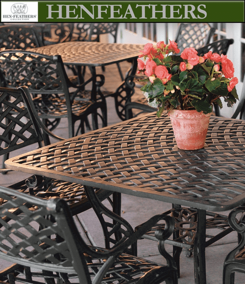 """Woven Arch Square Patio Table 32"""" {USA}n"""