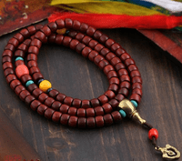 10MM Old Redsandalwood Mala