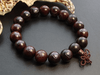 12MM Rosesandalwood Sterling Bracelet