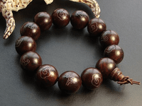 18MM Rosesandalwood Sterling Bracelet