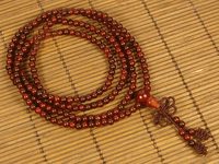 4MM 216 Beads Redsandlewood Malas