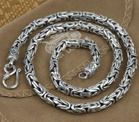 5MM Tibetan Sterling Longevity Necklace
