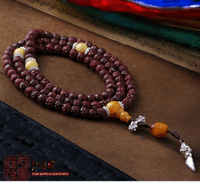 6.5MM Lotus Redsandalwood 108 Beads Mala