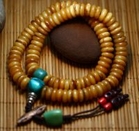 Old Kapala Bone 108 Beads Mala