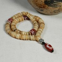 Old Blessed Tibetan Yak Bone 108 Beads Mala - Sold Out