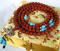 6MM redsandalwood 108 Beads Tibetan Mala