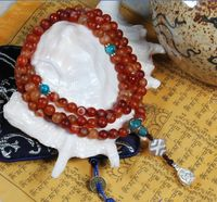8MM Old Agate 108 Beads Mala - Sold Out