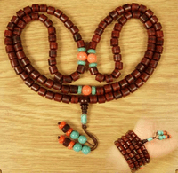 8MM Redsandalwood 108 Beads Mala