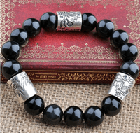 925 Silver Dragon Beads Bracelet - Sold out