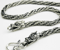 925 Silver Dragon Necklace for Men