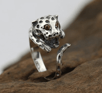 925 Silver Ring - Leopard
