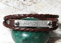 Braided OM Leather Bracelet - Sold out