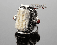 Ganesh Ivory Sterling Ring